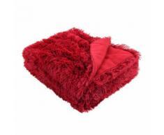 Plaid in finta pelliccia Marmotta Rosso