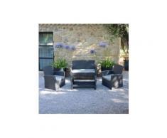 Salotto da giardino Ibiza Antracite e Grigio chiaro - 4 posti
