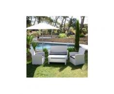 Salotto da giardino Ibiza Bianco e Antracite - 4 posti