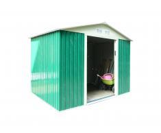 Caesaroo Box casetta giardino lamiera zincata verde pert M