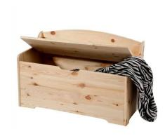 Pircher Cassapanca con schienale apribile in legno non verniciato