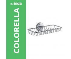 Inda Colorella Griglia Portasapone 24x14 Cromo, A23510