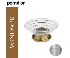 Pomd'or Windsor 266090 Portasapone Da Appoggio, Cromo