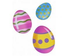 6 decorazioni di cartone uova di pasqua Taglia Unica