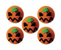 Decorazioni per dolci di Halloween: 5 mini dischi di zucchero zucca Taglia Unica
