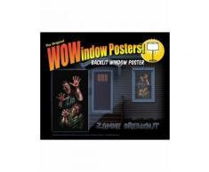 Adesivo per finestra Zombies Taglia Unica