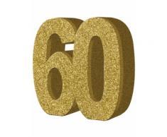 Decorazione da tavola 60 anni Taglia Unica