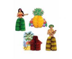 Centro tavola di carta Hawaii Taglia Unica
