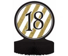 Centro tavola 18 anni nero oro Taglia Unica