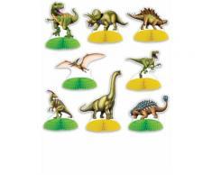8 Mini centro tavola Dinosauri Taglia Unica