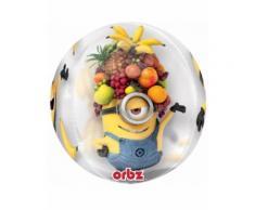 Palloncino trasparente Minions con frutta Taglia Unica