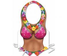 Grembiule di plastica donna Hawai Taglia Unica
