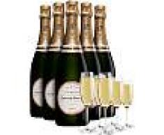 Champagne Laurent Perrier Pack 6 Bottiglie Laurent Perrier La Cuvee : 6 Flute In Omaggio