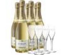 Champagne H. Blin Pack 6 Bottiglie Champagne H. Blin - Blanc De Blancs + 6 Flute