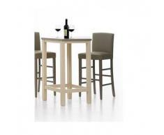 ART 1317 Tavolino Bar laccato avorio piano grigio