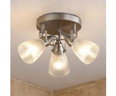 Kara - lampada LED per bagno con vetro scanalato