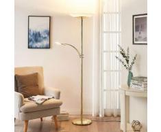 Lampada LED da pavimento Ilinca + luce di lettura
