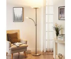 Lampada a LED da pavimento Ilinca luce di lettura