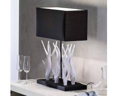 Orion Lampada da tavolo Marlies con decorazione di legno