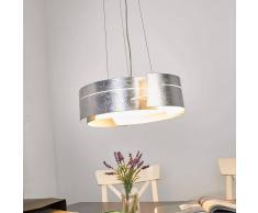 Lampenwelt.com Moderna lampada a sospensione LED Keyron argentata