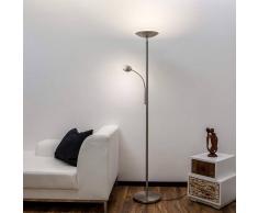 Lampenwelt.com Malea - lampada LED da terra, braccio di lettura