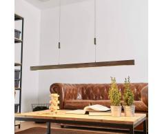 Lampenwelt.com Lampada a sospensione LED Nora in legno, 118 cm