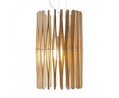 Fabbian Lampada a sospensione Stick in legno 43 cm