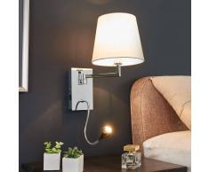 Lampenwelt.com Applique Rasmus con lampada a LED da lettura