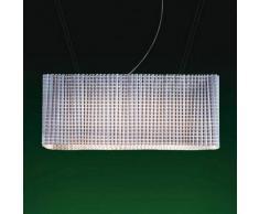 Luceplan Lampada a sospensione di design Plissé, bianca