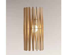 Fabbian Lampada a sospensione Stick in legno 33 cm