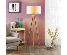 Lampenwelt.com Benik - lampada da terra treppiede effetto legno