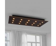 Lampenwelt.com Juri - lampada LED da soffitto in legno