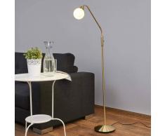 Lampenwelt.com Elaina - lampada di lettura a LED in ottone