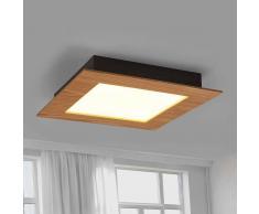 Lampenwelt.com Deno - lampada LED da soffitto con bordo in legno