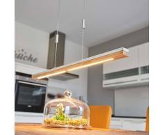 Lampenwelt.com Lampada a sospensione LED Kati legno calcestruzzo