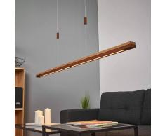 Lampenwelt.com Lampada a sospensione LED Elna ruggine e legno