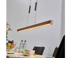 Lampenwelt.com Lampada a sospensione di legno Smudo, con LED