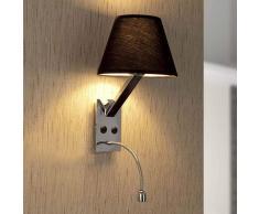 Lorefar (FARO) Applique LED Moma-2 con lampada di lettura nera