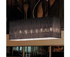 Luceplan Lampada a sospensione di design Plissé, nera