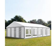 tendapro.it Tendone 5x10m PVC bianco-grigio Gazebo per Feste e Giardino