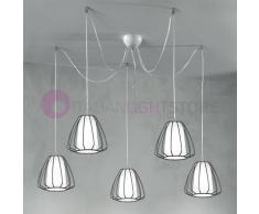 Due P Illuminazione Yang Lampada A Sospensione Vintage A 5 Luci Design Moderno