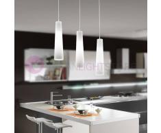 Perenz Srl Flute Lampada A Sospensione A 3 Luci Design Moderno Vetro Conico