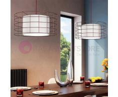 Due P Illuminazione Tokyo Lampada A Sospensione Ø 50 Stile Vintage Gabbia Acciaio Design Moderno
