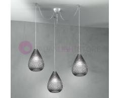 Due P Illuminazione Goccia Lampada A Sospensione A 3 Luci In Vetro Design Moderno