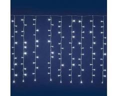 e-Led Light Tenda luminosa 384 luci LED Reflex Bianco Freddo per interno/esterno con controller memory