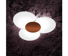 Plafoniera Fiori Vetro : Plafoniere in vetro top light da acquistare online su livingo