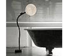 ines artdesign Lampada da salone Micro Luna Piantana - Nebulite/Nero