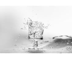 Quadro Acqua che cade nel bicchiere