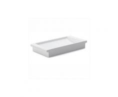 2031 Porta sapone in ceramica bianca