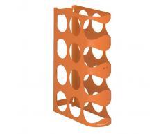 Mipiacemolto portabottiglie da parete Holes two colore Arancione